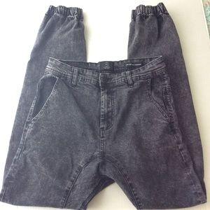 Cotton On Black Acid Wash Slim Denim Joggers 28